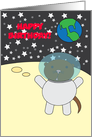 Happy Birthday Space Otter Customizable card