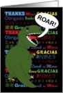 Thank You Tyrannosaurs Rex card