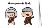 Grandparents Day Grandma and Grandpa Rocks with Guitars card