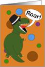 Invitation, Thanksgiving Dinner, Tyrannosaurus Rex Dinosaur card