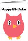 Birthday Owl Hoot card