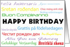 Multilanguage Birthday Card - All Languages card