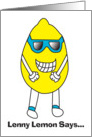 Lenny Lemon Birthday Card