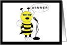Congratulation Spelling Bee Bee card