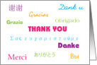 Thank You in Many Languages card