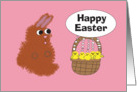 Happy Easter from Bunny and Baby Chicks card