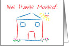 We Have Moved House Scene Announcement card