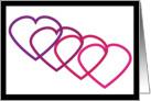 Interlocking Heart Valentine card