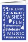 Birthday Party Subway Art Invitation card