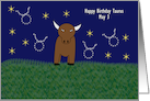 Taurus Bull Birthday Card