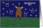 Taurus Bull Birthday Card