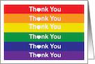 Heart Rainbow Thank You card