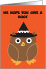 Halloween Owl Hoot Customizable Party Invitation card