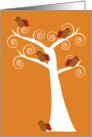 Five Thanksgiving Turkeys in a Tree card