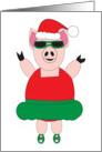 Christmas Ballet Pig card