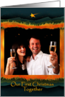 First Christmas Together as Engaged Couple, Manger Photo Card