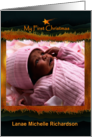 Baby's First Christmas, Manger and Star Photo Card