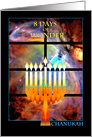 Messianic Chanukah Eight Days of Wonder, Menorah in Window card