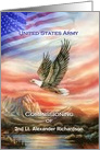 Army Commissioning Eagle & American Flag Custom Announcement card