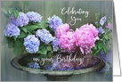 Happy Birthday, Blue Hydrangeas card