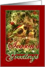 Merry Christmas and Season's Greetings, Bird in Christmas Tree card