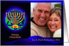 Hanukkah Photo Card, Star and Menorah card