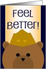 Feel Better! Naval Aviator Bear- Feel Better with a Bit of Humor card