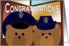 Wedding Congratulations - Air Force Officer Couple card