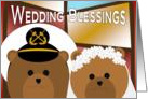 Wedding Blessings - Navy Enlisted Groom & Civilian Bride - Religious card