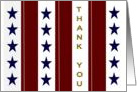 Home Front Stars and Stripes - For Your Military Family's Service card