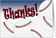 Baseball Team - Thank You from All of Us! card