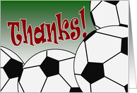 Soccer Team - Thank You from All of Us! card