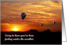 Hot Air Balloons in the Sunrise card