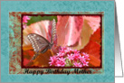 Mom's Birthday, Butterfly and flowers card