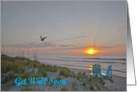 A beach sunrise scene, Get Well Soon card
