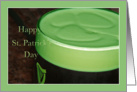 Green Beer St. Patrick's Day Shamrock Card