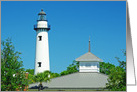 St. Simon Island Lighthouse Blank Note Card
