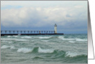 Manistee Lighthouse Lake Michigan Blank Note Card