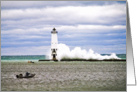 Blank Lighthouse Frankfort Michigan Note Card