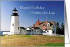 Birthday Brother-in-Law Lighthouse Pemaquid Point Maine card