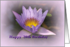 Birthday 20th Purple Waterlily Card