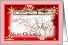 Christmas Winter Scene Snowflakes Card