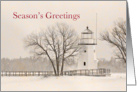 Lighthouse Season's Greeting Cheboygan Card