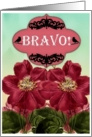 Bravo! Red Clematis Flowers card