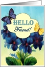 Hello Friend Forget Me Not's card