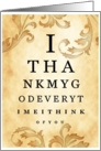 I Thank God Everytime I Think of You Eye Chart card