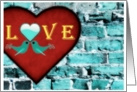 Love Birds Against the Brick Wall card