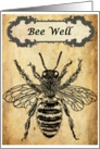 Bee Well Vintage Inspirational card