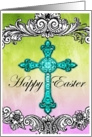 Happy Easter Victorian Cross card