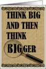 Think Big! Vintage Burlap card